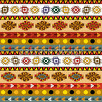 Mayan Tribe Seamless Vector Pattern Design
