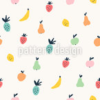 Selection Of Fruits Seamless Vector Pattern Design