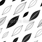 Diagonal Leaves Seamless Vector Pattern Design