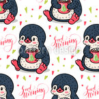 Good Morning Sweet Penguin Repeat Pattern
