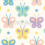 Leckere Schmetterlinge Nahtloses Vektor Muster