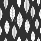 Straight Leaves Vector Pattern