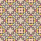 Kaleidoskopische Fliesen Rapportiertes Design