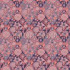 Rhombic Flowers Design Pattern