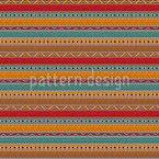 Fronteiras étnicas tribais Design de padrão vetorial sem costura