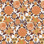 Invisible Rhombic Flowers Design Pattern