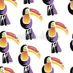 Tropische Vögel Nahtloses Vektormuster