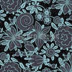 Underwater Flowers Repeating Pattern
