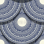 Romanian Ethnic Scales Seamless Vector Pattern Design