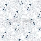 Versteckte Vögel Nahtloses Vektormuster