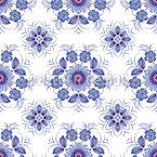 Winter Gänseblümchen Nahtloses Muster