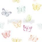 Schmetterlingszeichnungen Nahtloses Vektormuster