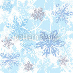 Sibiria Blue Seamless Vector Pattern Design