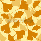 Autumnal Ginkgo Vector Ornament