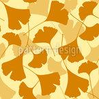 Herbstlicher Ginkgo Vektor Ornament