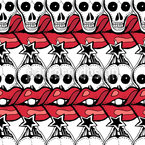 Lips And Skulls Vector Design