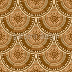 Placas Ethno da Terra Design de padrão vetorial sem costura