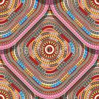 Glückliche Quadratische Platten Muster Design