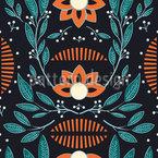 Mystical Flora Seamless Vector Pattern