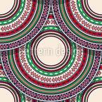 Placas Folclore Design de padrão vetorial sem costura