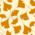 Ginkgo Silhouettes Seamless Vector Pattern