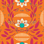 Glowing Flora Vector Pattern