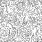 Lilly Is Drawing Seamless Vector Pattern Design