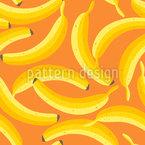 Leckere Reife Bananen Rapportiertes Design