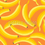 Yummy Ripe Bananas Seamless Vector Pattern Design