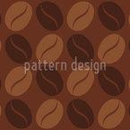 コーヒー豆 シームレスなベクトルパターン設計