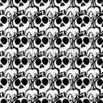 Skulls Seamless Vector Pattern Design
