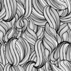 Cachos de Cabelo Design de padrão vetorial sem costura