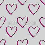Frohen Valentinstag Muster Design
