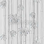Bamboo Woods Grey Seamless Vector Pattern Design