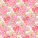 Bouquet nostalgico disegni vettoriali senza cuciture