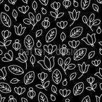 Blumenumrisse Vektor Ornament