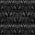 Encora Black Seamless Vector Pattern Design