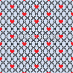 Der Zaun Der Liebe Vektor Muster