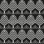 Gestrickte Bäume Nahtloses Vektor Muster
