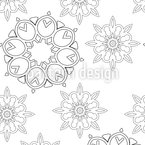 Simple Mandalas Seamless Vector Pattern Design