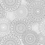 Many Mandalas Seamless Vector Pattern Design
