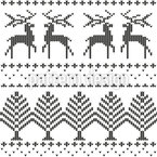Knitted Winter Theme Seamless Vector Pattern Design