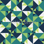 Dreieck Tangram Nahtloses Vektormuster