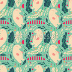 Polar Bear Salad Seamless Pattern