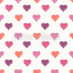 Scribble Hearts Repeating Pattern