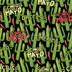 Kakteen Und Chilis Muster Design