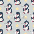 Pinguin und Hasen Nahtloses Muster