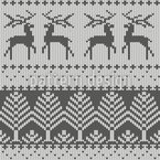 Knitted Winter Seamless Vector Pattern Design