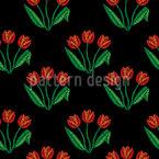 Tulpenblumen Nahtloses Vektormuster