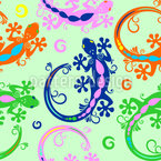 Gecko Seamless Vector Pattern